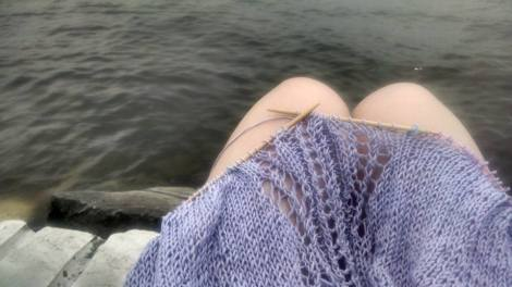 knit by lake